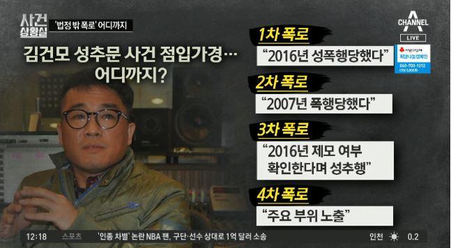 '점입가경' 김건모 성추문…벌써 네 번째 폭로?