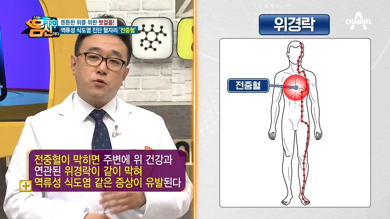 [위 건강 위한 혈자리 지압법] '전중혈'로 역류성 식....