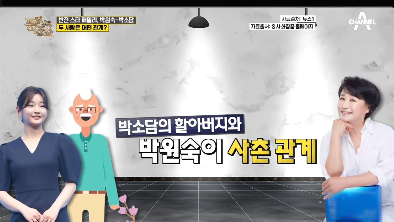 '연예계 의외의 핏줄' 6촌 사이라는 박원숙과 박소담!
