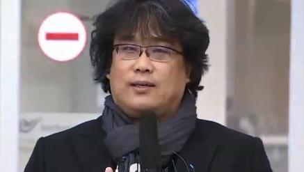 """'금의환향' 봉준호 감독 """"코로나 극복하는 국민들께 박...."""