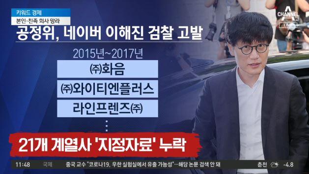 공정위, '계열사 누락' 이해진 검찰에 고발