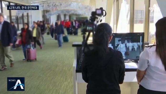 입국 제한 국가 43개국으로 늘어…한국 '기피 현상' ....