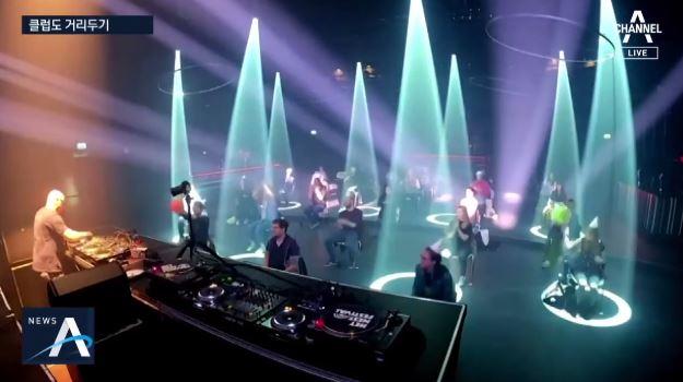 의자에 앉아서 춤을…사회적 거리두는 네덜란드 클럽