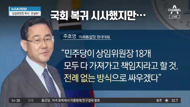 '칩거' 주호영, 이번 주 복귀 가능성은?