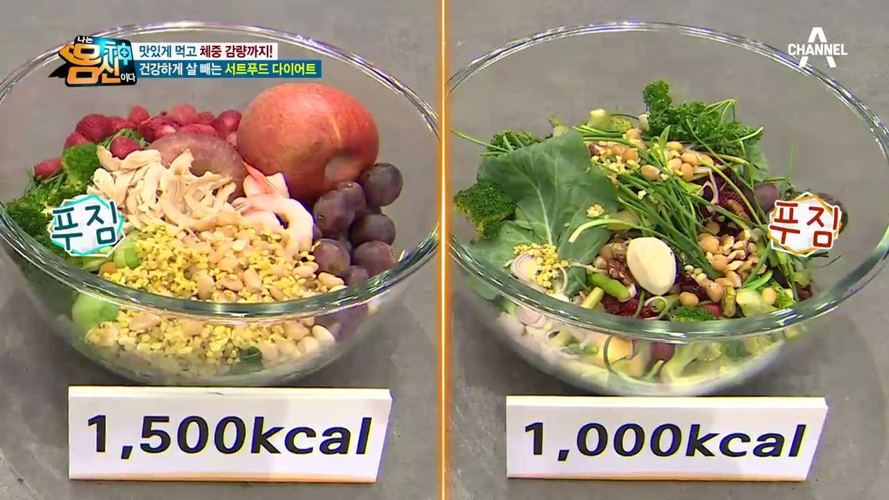 서트푸드 다이어트 하루 식단 대공개!