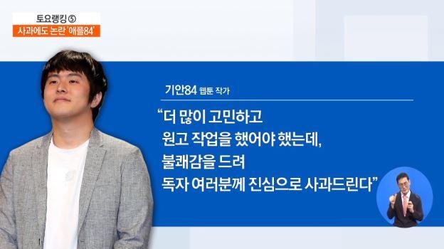 """웹툰 '복학왕' 성차별 논란…기안84 """"불쾌감 드려 죄송"""""""