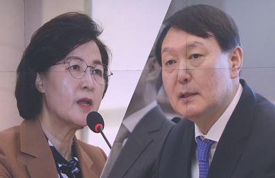 추미애, 또 수사지휘권 발동…라임 ·가족수사 윤석열 배....