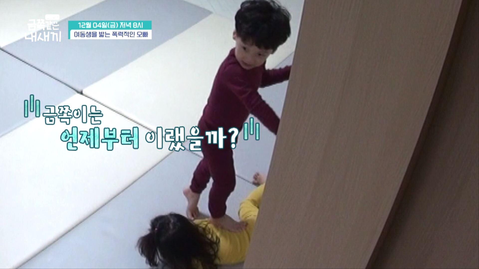 [선공개] (심각) 여동생과 과격하게 노는 금쪽이;;;....