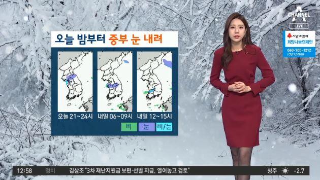 [날씨]오늘 중부지방 밤부터 '눈'…전국 곳곳 눈·비 ....