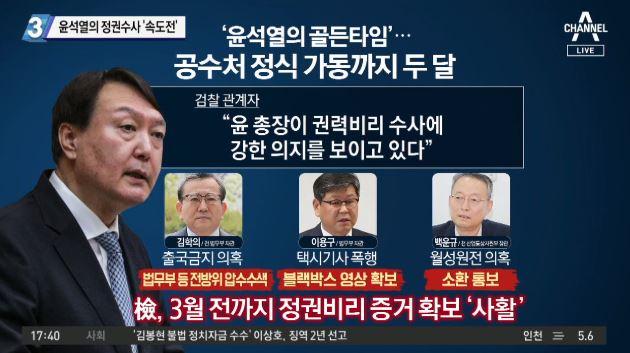 윤석열의 정권수사 '속도전'