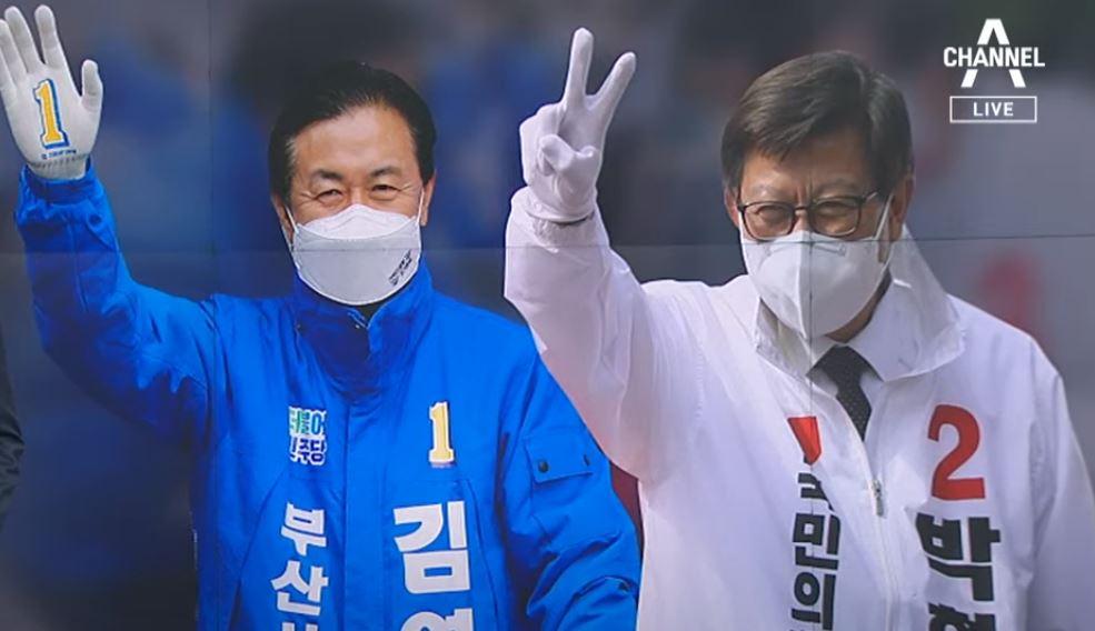 김영춘 vs 박형준, 서면서 '최후의 결전'…지지층 결....