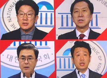 """국민의힘 원내대표 주자들, 앞다퉈 """"윤석열과 함께"""""""