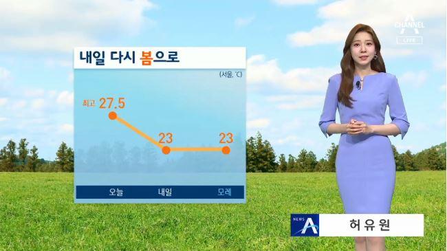 [날씨]내일 출근길 서쪽 비 살짝…더위 한풀 꺾여
