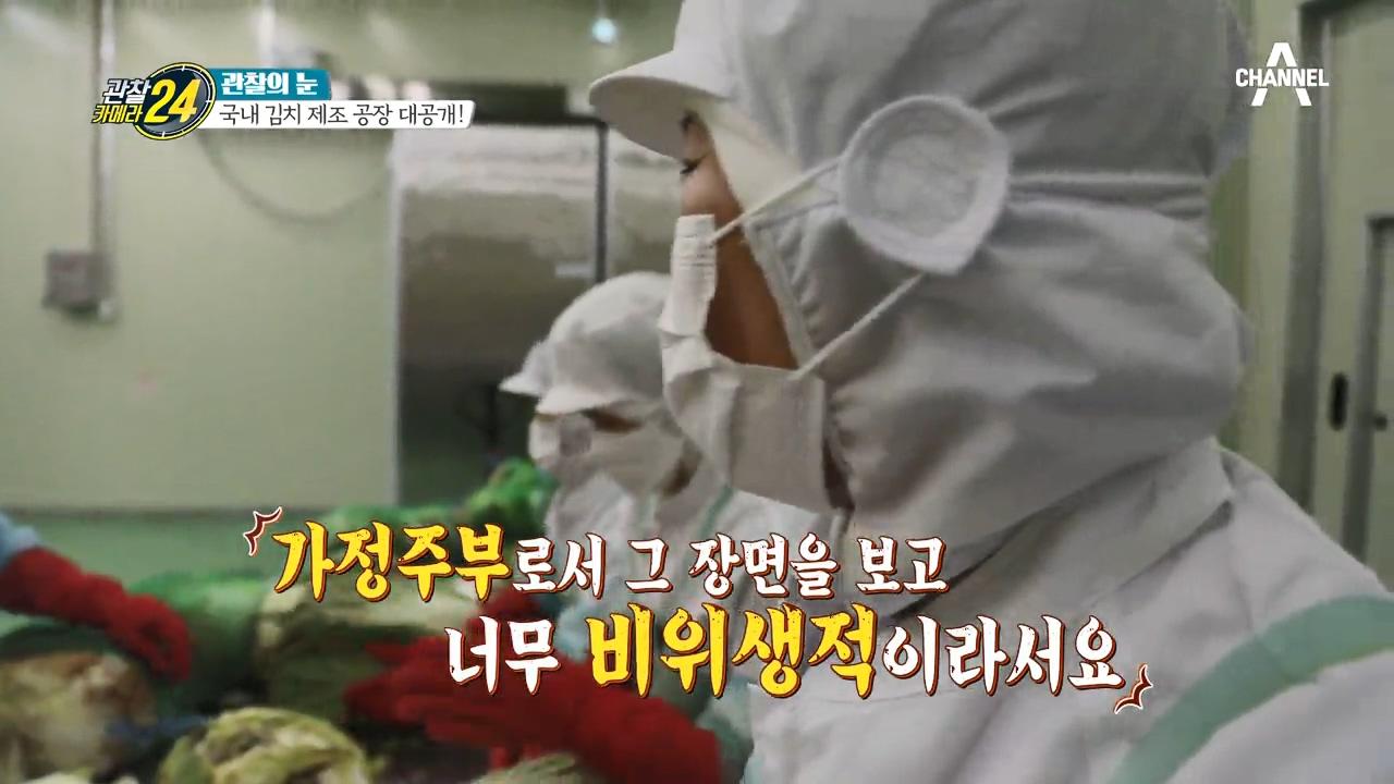 중국산 알몸 김치 파동.... 국내산 김치 공장 직원들....