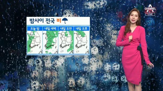 [날씨]밤부터 전국 비…돌풍·우박 유의