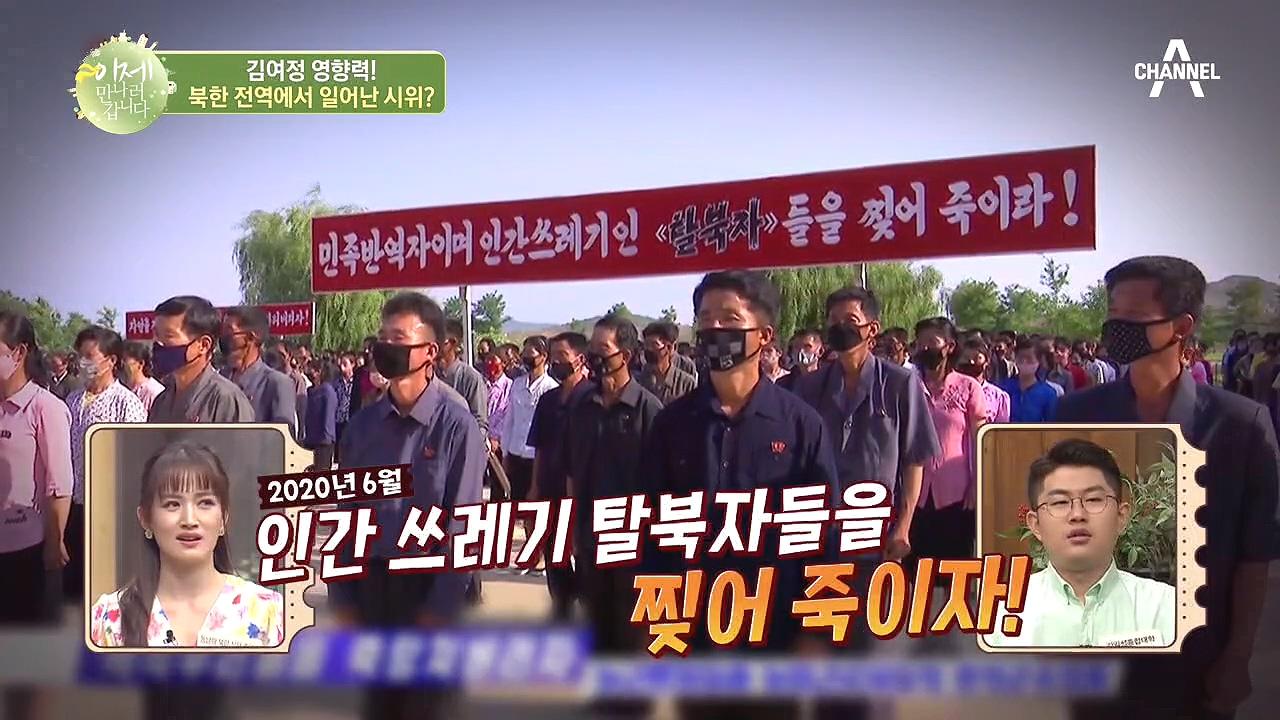 北 전역에서 일어난 탈북자 규탄 시위, 흑막은 김여정이....