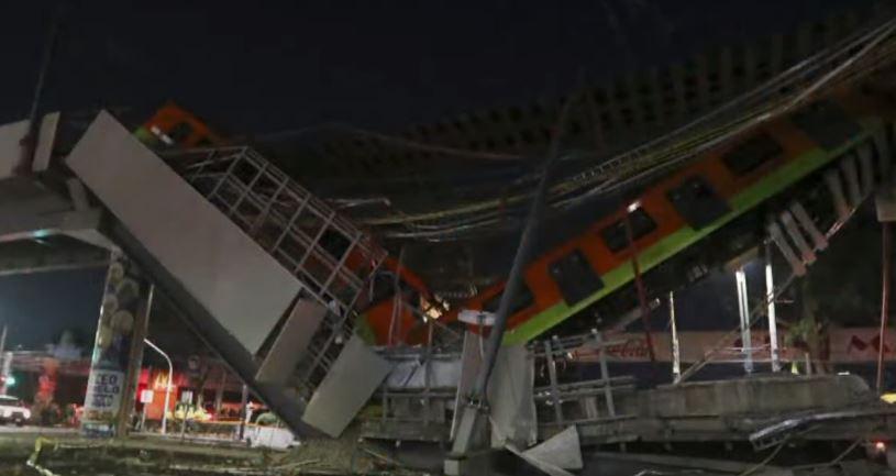 멕시코 지하철 고가철도 붕괴…20여 명 사망