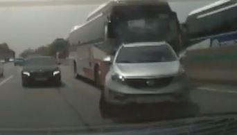경부고속도로 상행선서 5중 추돌 사고…1명 경상