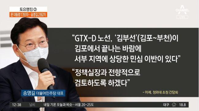 """송영길 """"'김부선' 관련 서부권 상당한 민심 이반"""""""