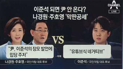 정작 윤석열은 없는 '윤석열 전당대회'