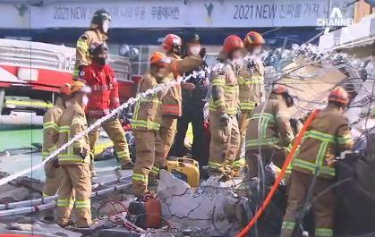 광주서 철거 중이던 5층 건물 붕괴…시내버스 덮쳐