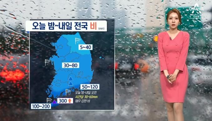[날씨]밤부터 전국 비…제주·남해안 폭우 쏟아져