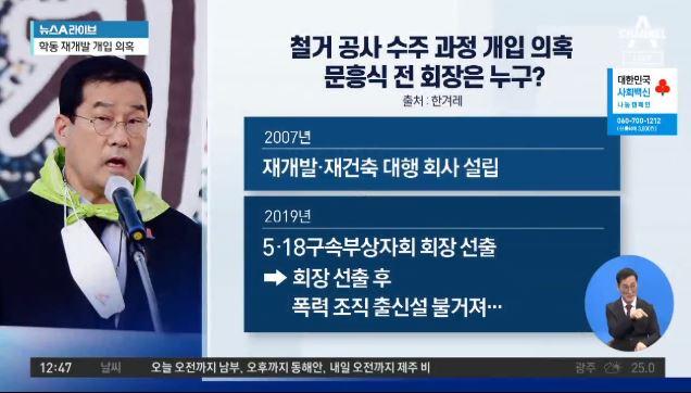 조폭이 '붕괴참사' 사고 개입?…'5·18단체 회장' ....