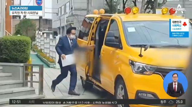 서울시의원이 유치원 차 타고 버스전용차로 '쌩쌩'