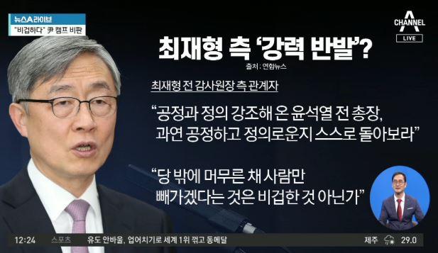 최재형 측, 윤석열 野 인사 영입에 '강력 반발'