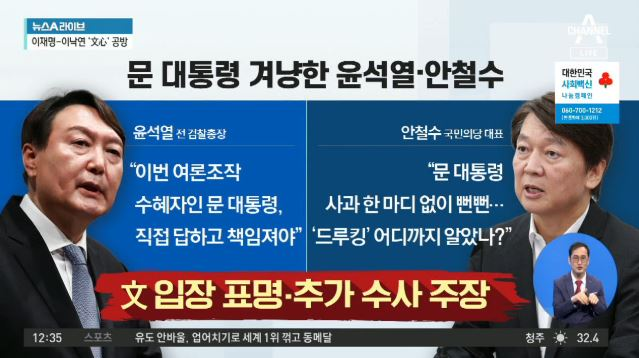 '친문' 김경수 구속에…윤석열-안철수, 文 비판