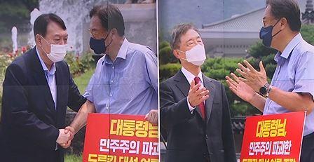 윤석열-최재형, 대여 공세 경쟁…드루킹-네거티브 비판