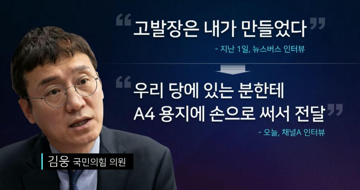 오락가락 김웅 해명 따져보니…고발장 작성 사실도 부인