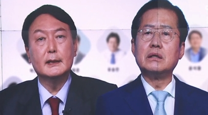"""윤석열 """"과반 가까운 1위"""" vs 홍준표 """"이미 역전"""""""