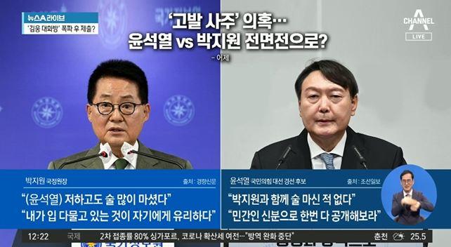 '고발 사주' 의혹…윤석열 vs 박지원 전면전으로?