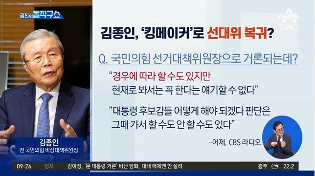 [2021.9.17] 김진의 돌직구쇼 829회