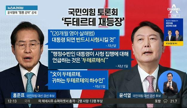 국민의힘 토론회 '두테르테 재등장'…불붙은 윤홍대전