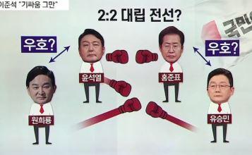 尹·元 연합 vs 洪·劉 공세…야권 후보들의 '합종연횡....