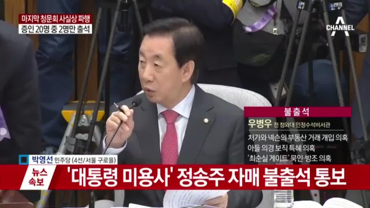 국조특위, 불출석 증인 동행명령서 발부
