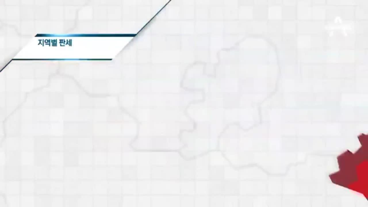 [선거상황실]전국·지역별 판세…문재인 39.9%