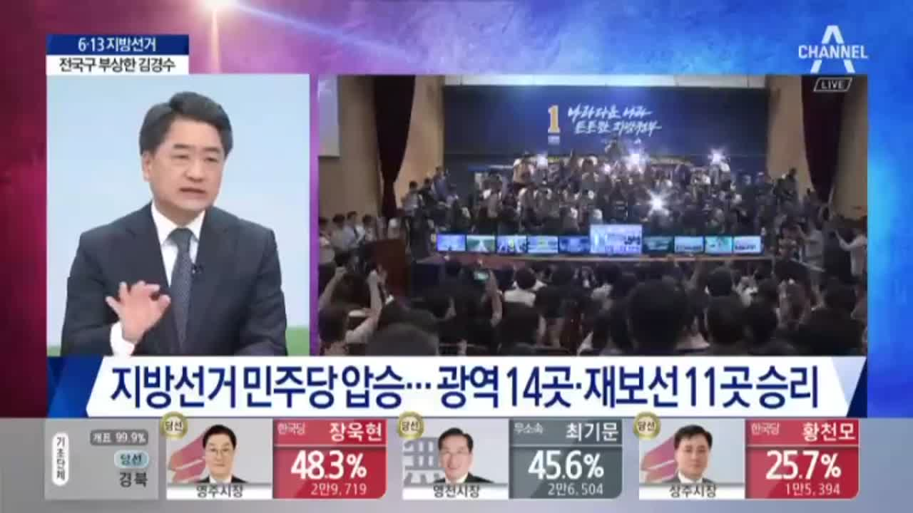 민주당 압승…광역 14곳, 재보선 11곳 승리