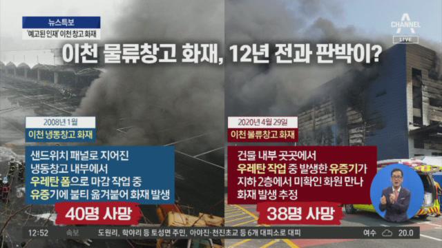 이천 물류창고 화재로 38명 사망…'원인 규명' 주력