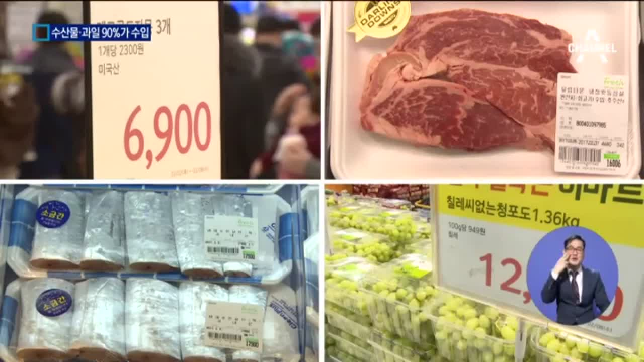 신토불이 옛말?…수입산이 점령한 한국 밥상
