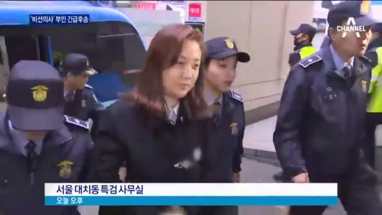 '의료계 최순실' 박채윤, 조사 시작 전 '호흡곤란'