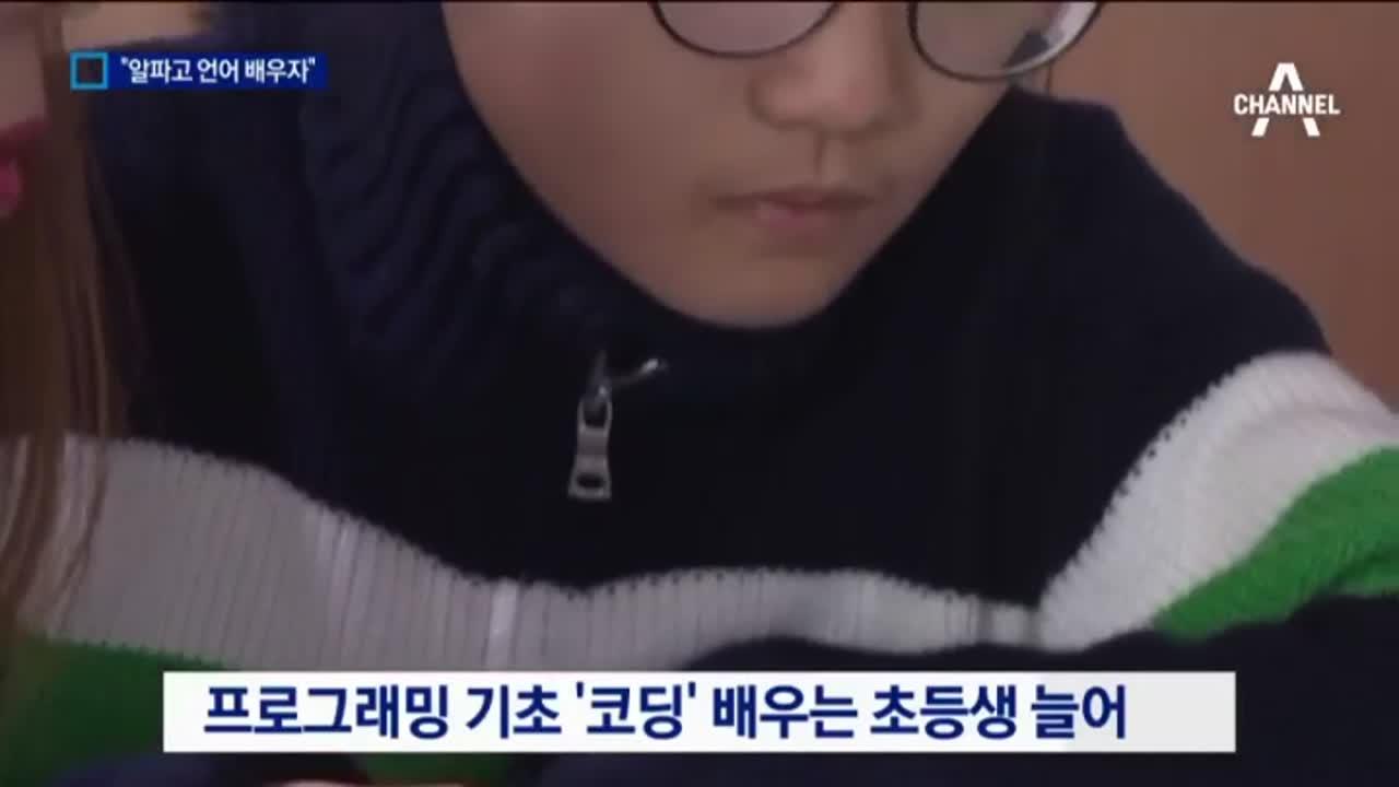 """""""알파고 언어 배우자""""…코딩 교육 열풍"""