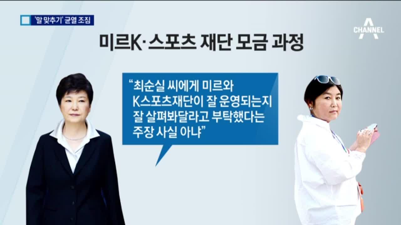 박 대통령 첫 의견서…최순실과 '말 맞추기 균열'