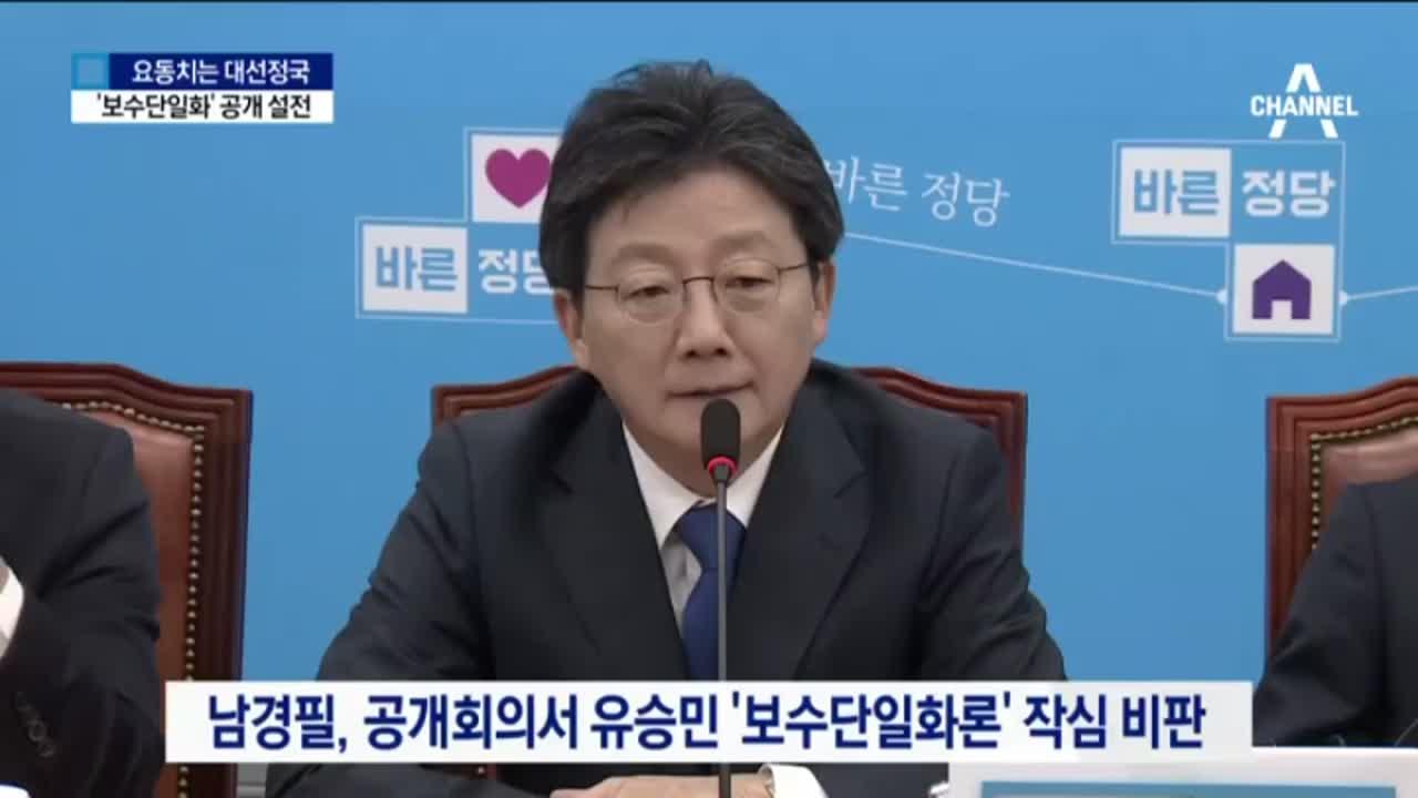 유승민 vs 남경필, '보수단일화' 공개 설전