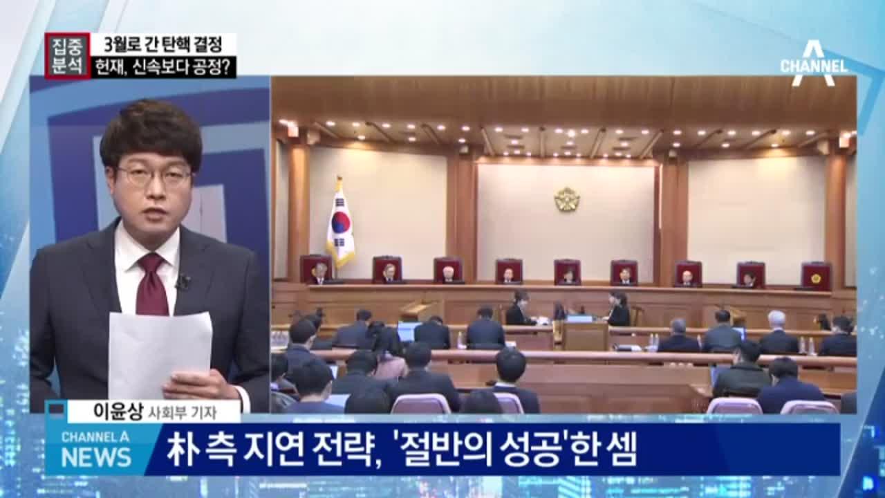 박 대통령 측 '지연 전략' 통했나?
