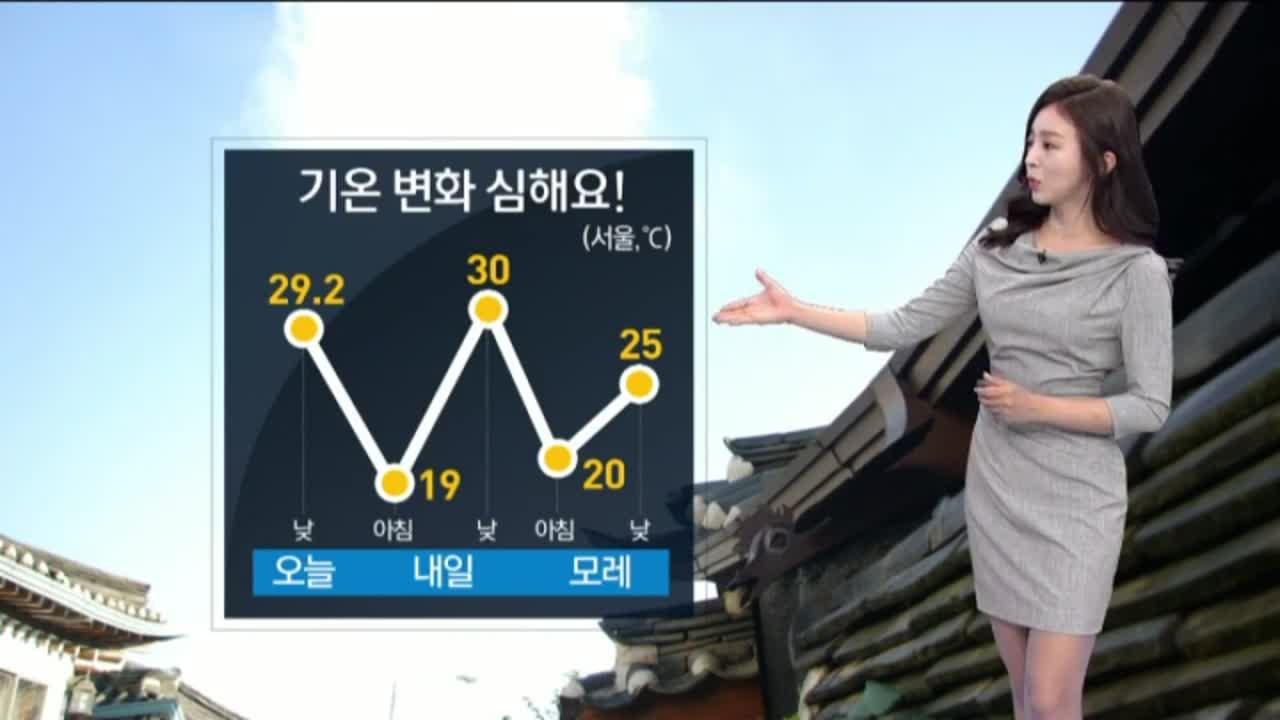 [날씨]내일 맑지만 큰 일교차…서울 30도