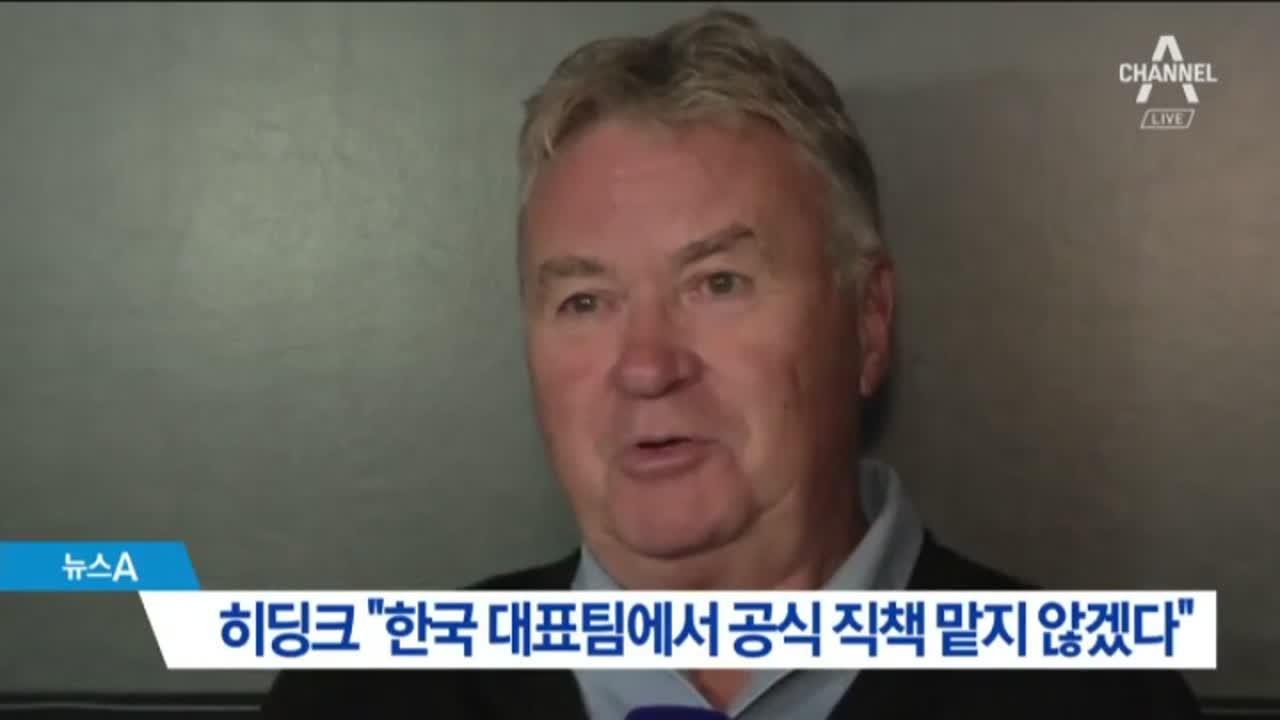 """히딩크 """"한국 대표팀 공식 직책 맡지 않겠다"""""""