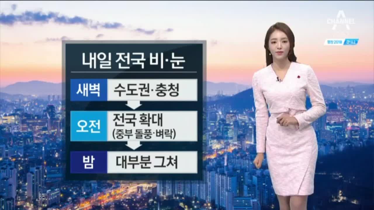 [날씨]전국 눈·비소식 확대…곳곳 대설 예비특보